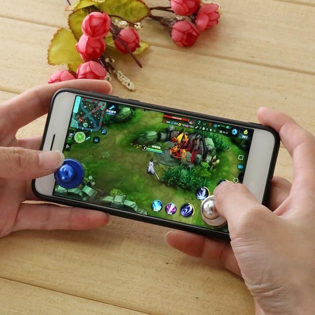 Mini Game Joystick Joypad Aluminum Alloy Blue Touch Screen Joysticks Phone Game Controller For phone tablet gaming player