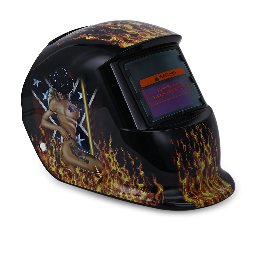 Skull Solar Auto Darkening MIG MMA Masks Electric Welding Mask/Helmet/Welder Beauty Pattern Cap/Welding Lens for Welding Machine red standard design solar welding helmet auto darkening electric grinding welding face mask welder cap lens cobwebs and skull