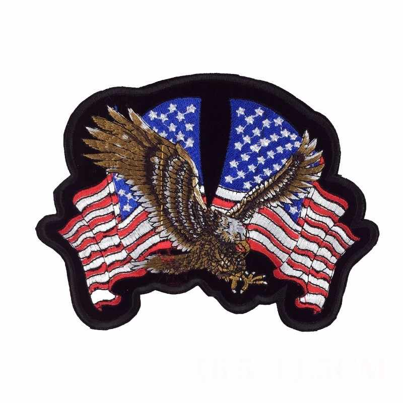 afad055f PGY Clothing Accessories American Eagle Army Badge Punk Rock Bike Patch  Large Embroidery Biker Patch Motorcycle