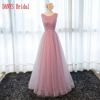 Elegant Long Lace Evening Dresses Party Tulle A Line Women Prom Beaded Formal Evening Gowns Dresses robe de soiree longue