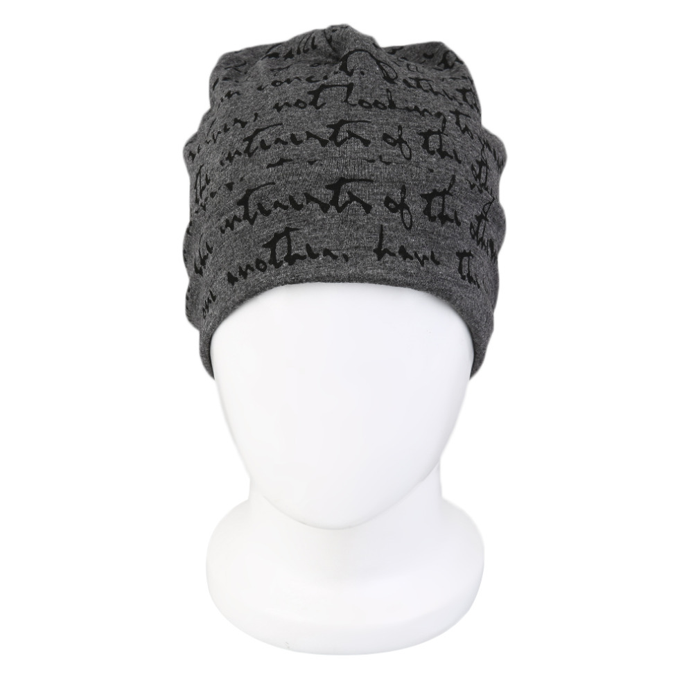 New Style Trendy Women Men Letter Decoration Cotton Winter Cap Polyester Knitted Unisex Hip-Hop Cap Hat Warm Protect Ear Caps unisex cotton hip hop hat with ring warm beanie cap in winter women knitted hats men and women skullies