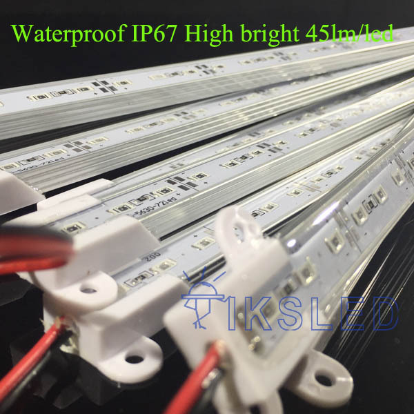 waterproof IP67 50pcs lot 100cm 72 LED 5630 45lm chip LED Bar Light Waterproof 72LEDs 1m
