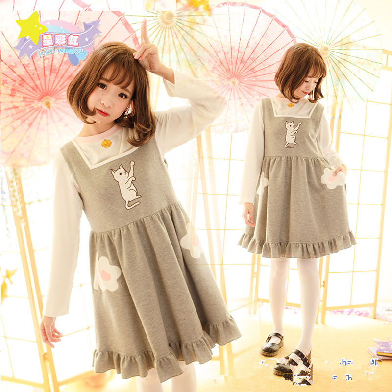 Princess sweet lolita dressPick braces skirt suit bell the cat thickening models SE324SE325-2