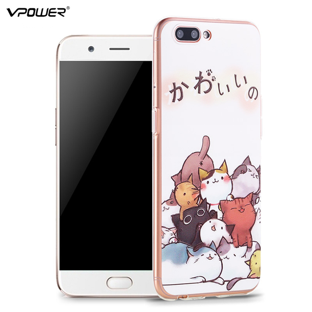 super popular d8faf 360ef US $10.13 |OPPO R11 case Vpower 3D Relief Printing Soft TPU Case For OPPO  R11 Back Cover Ultra thin For OPPO R11 Plus case cover+Glass Film on ...