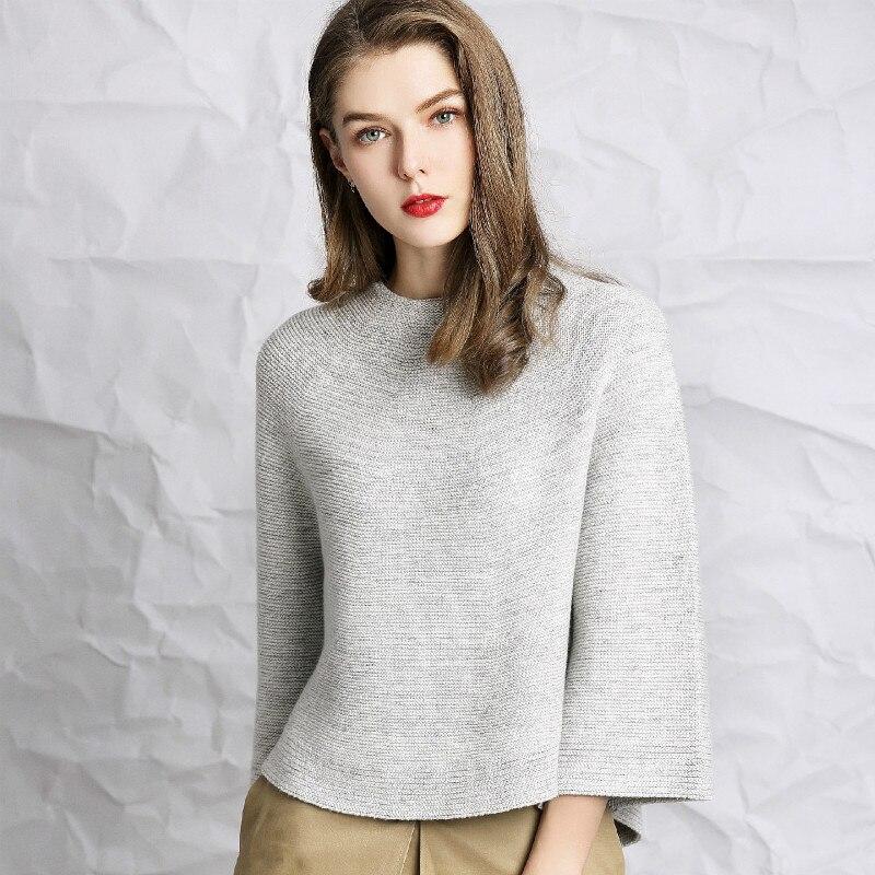 Automne et hiver nouveau 2019 européen et américain femmes haut de gamme pull lâche femmes sans couture pleine forme pull