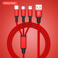 USB Cable For iPhone XS X 8 7 6 Charging Charger 3 in 1 Micr