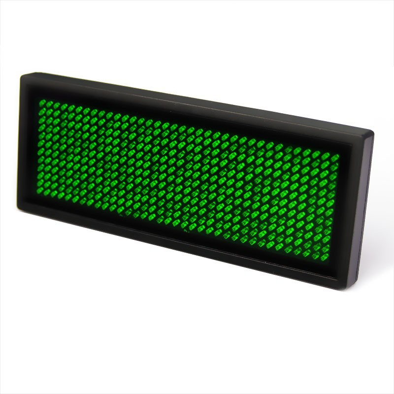 Green LED Name Badge Sign Scrolling Advertising With USB Programming *  Window 8 Compatible