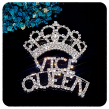 GRANDBLING New Arrival Blingbling Crystal Vice Queen Crown Brooch Jewelry for Womens Bag Hat Decoration