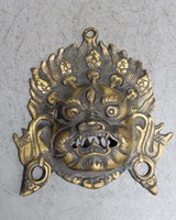 6 Collect Chinese Brass Handmade Mahakala Yamantaka Head Mask Statue