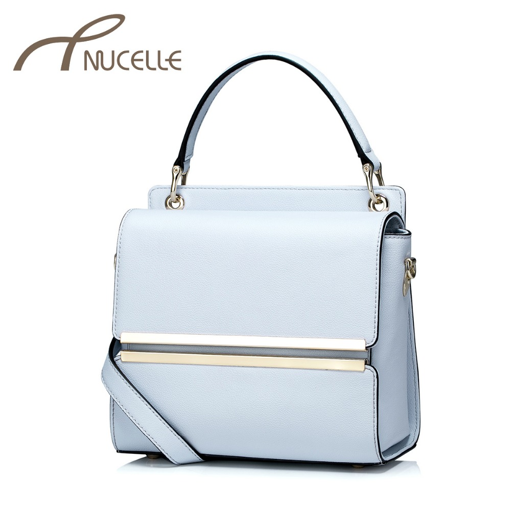 ФОТО NUCELLE Women Split Leather Handbags Ladies Fashion Leather Tote Bags Female Brief Small Flap Crossbody Bags NZ5871