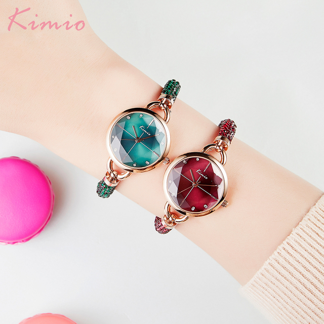 KIMIO Diamond Bracelet Women's Watches Bandage Crystal Watch Women Brand Luxury Female Wristwatch Dropshipping 2021 New Arrivals 5
