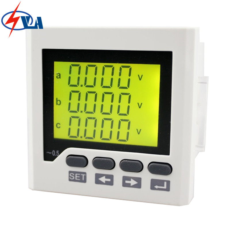 3UIF6Y panel size 72*72 ac lcd digital 3 phase voltmeter and ammeter combined meter, with frequency measure fluke f302 1 6 lcd ac clamp meter yellow red 3 x aaa