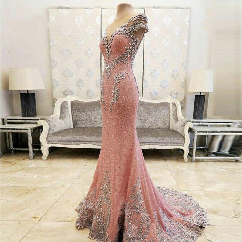 Dubai Long Mermaid   Evening     Dresses   Prom   Dress   New Women Formal Gown For Prom Wedding Party   Dresses   Robe De Soiree