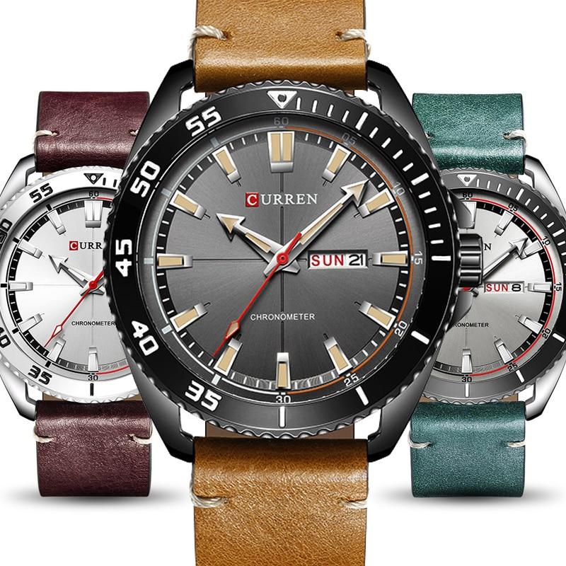 Curren Watches Men Top Brand Luxury Quartz Watch Men's Fashion Casual Sport Clock Men Wristwatch erkek kol saati Dropshipping
