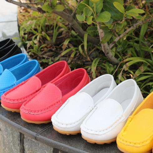 2016 new  candy color children shoes boys girls shoes soft sole kids shoes girls single shoes high quality leather flats