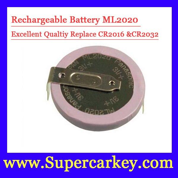 imágenes para Envío Libre abigdiscout (10 unids/lote) ML2020 Batería Recargable Para BW Remoto Clave Fob Remoto