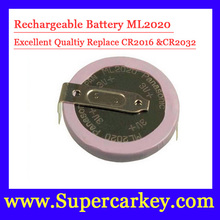 Free Shipping Big discout 10pcs lot ML2020 Rechargeable Battery For BW Remote Key Fob Remote
