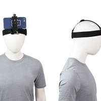 Universal Mobile Phone Head Fixed Head Strap Mount Headband Holder w/ Phone Clip Holder for Smartphones