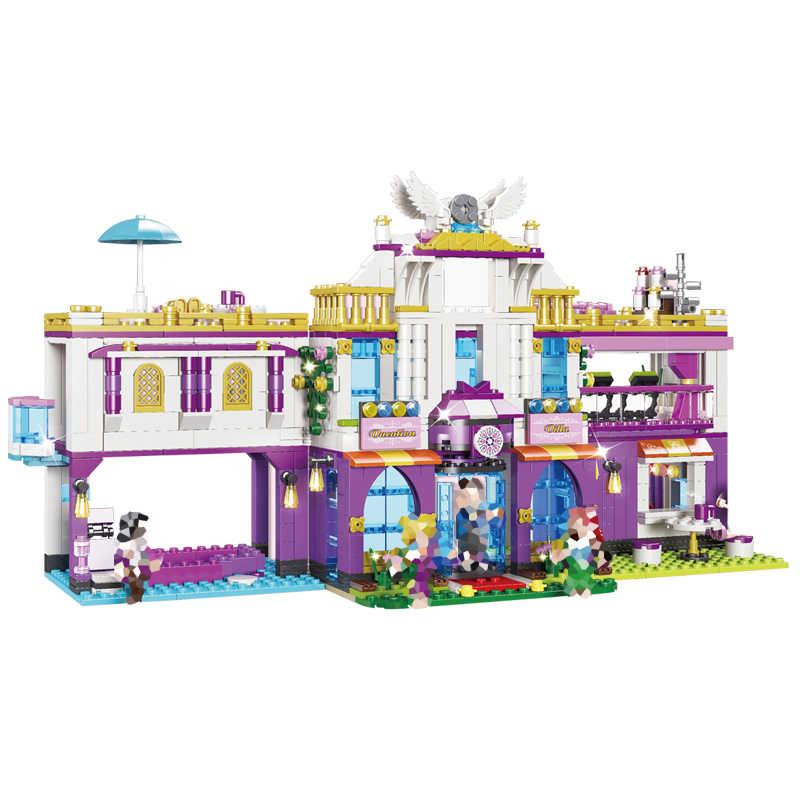 Серия принцессы 961 шт. Частная роскошная вилла 2 модель изменения 6 фигурок Кирпичи Строительные блоки игрушки Совместимые наборы друзей