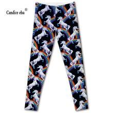 Hot sales new sexy digital printing women leggings fashion rainbow unicorn pant capris soft fitness plus size drop shipping