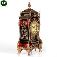 classic clock desk clock sitting room office table clock Mute pendulum