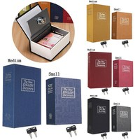 Security Simulation Dictionary Book Case Home Cash Money Jewelry Locker Secret Safe Storage Box With Key