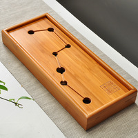 Big Dipper Kung Fu Tea Set Natural Wood Bamboo Tea Tray Rectangular Traditional Bamboo Puer Tea Tray Chahai Tea Table Travel Set