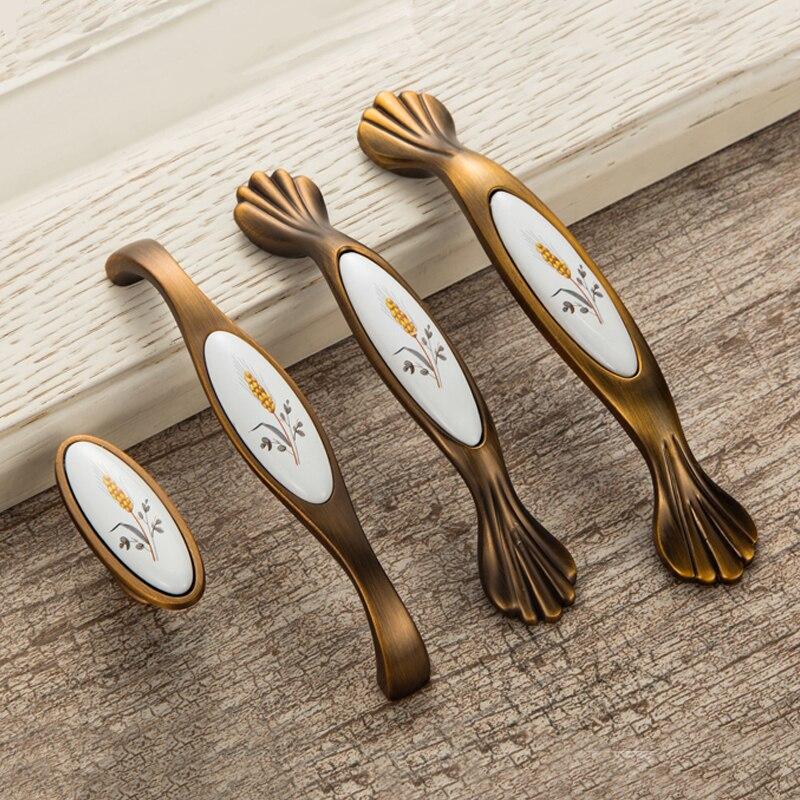 Porta antica Maniglie Maniglia In Ceramica per Armadi Da Cucina ...
