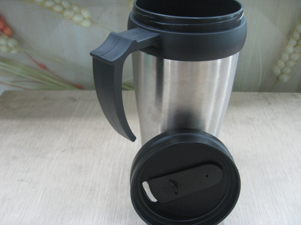 office cups. Free Shipping 14OZ Stainless Steel Coffee Cup Mug Travel Office Plastic Insulated Cups