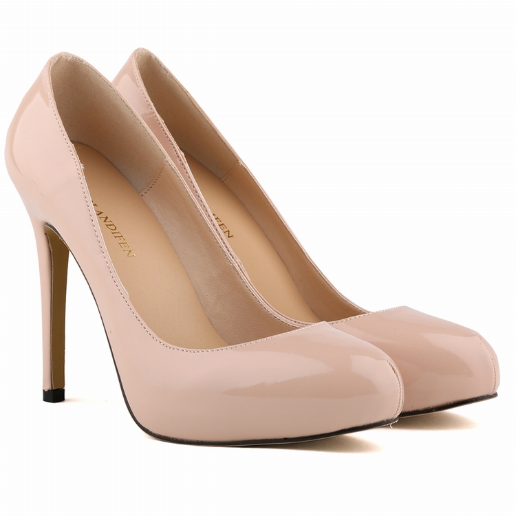 WOMENS PU Leather HIGH HEEL POINTED TOE CORSET STYLE WORK PUMPS COURT SHOES US4 11 806