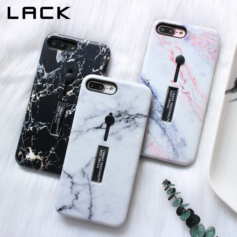LACK Colorful Marble Phone Case For iphone 7 Case For iphone 6 6S 7 8 Plus X Cover Fashion Stretch Ring Stand Cases Retro Capa