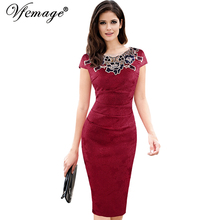 Womens embroidery Elegant Bodycon Evening Party Dress