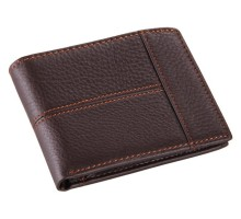 8064C  fashion and vintage wallet for man wholesale china 100% genuine leather coffee color