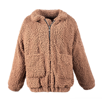 Women Fashion Fluffy Shaggy Faux Fur Warm Winter Coat Cardigan Bomber Jacket Lady Coats Zipper Outwear Jackets