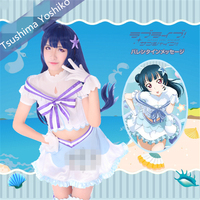 Hot Japanese Anime Love Live Sunshine Aqours Koibininaritai Aquarium Love Tsushima Yoshiko Cosplay Costume Dresses Women