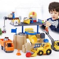 Lepin 02069 City Series the Building Crane Set 7905 Building Blocks Bricks City Lifting Machine For Children Toys Friends Gifts