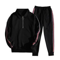 2018 г. Лидер продаж 2 шт. комплект на молнии с длинными рукавами куртка с капюшоном костюм мужские утепленные зимние лоскутные куртки хип-хоп