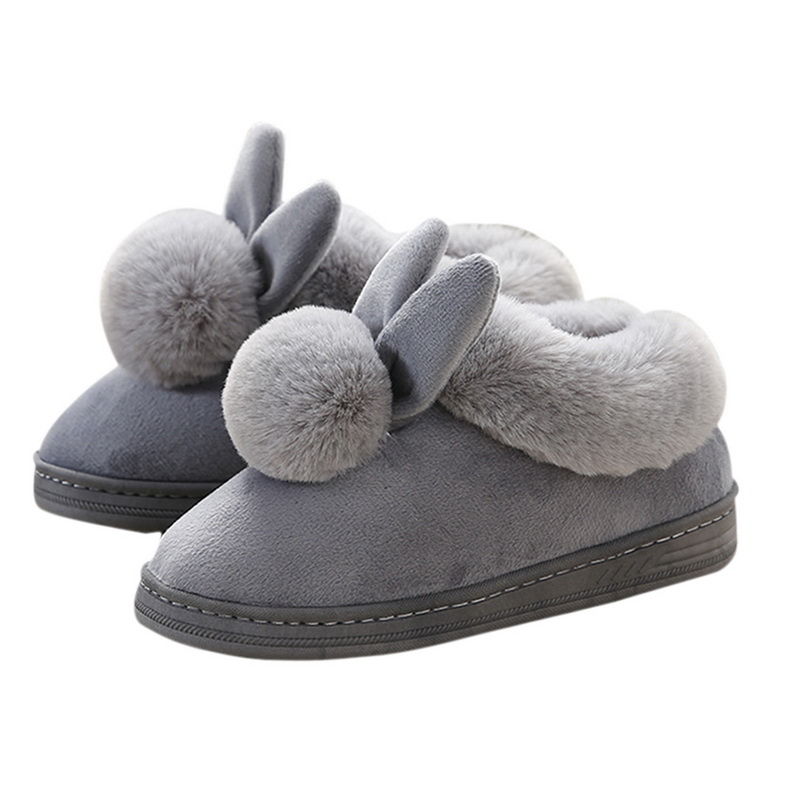 WENYUJH Women Shoes Pink Slippers Woman and Men Cotton Slippers In Winter House Lovely Rabbit Indoor Slippers Pregnant Woman New 201818 woman slippers caf
