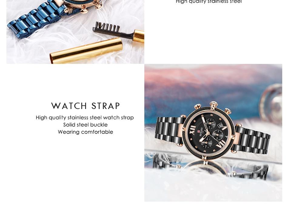 REWARD 63084 Ladies Steel Belt Waterproof Watch 9