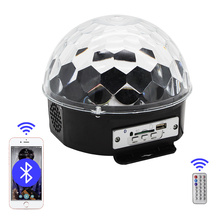 MP3 Bluetooth USB Disco DJ Stage Lighting LED Magic Ball Digital RGB Music Crystal Effect Remote Control