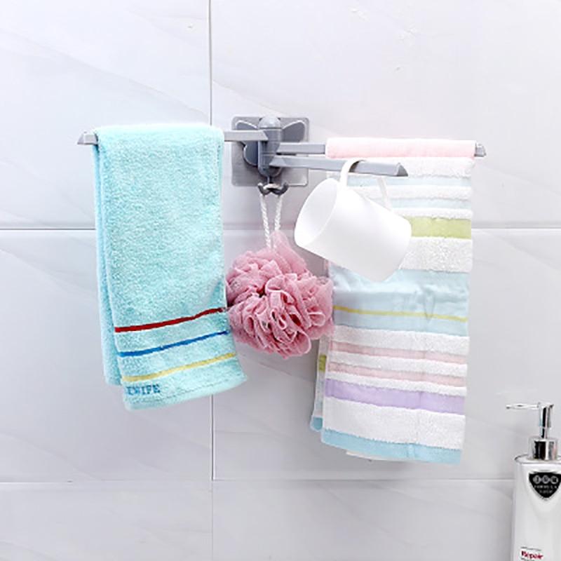Bathroom Hanging Towel Support Waterproof 180 Degree