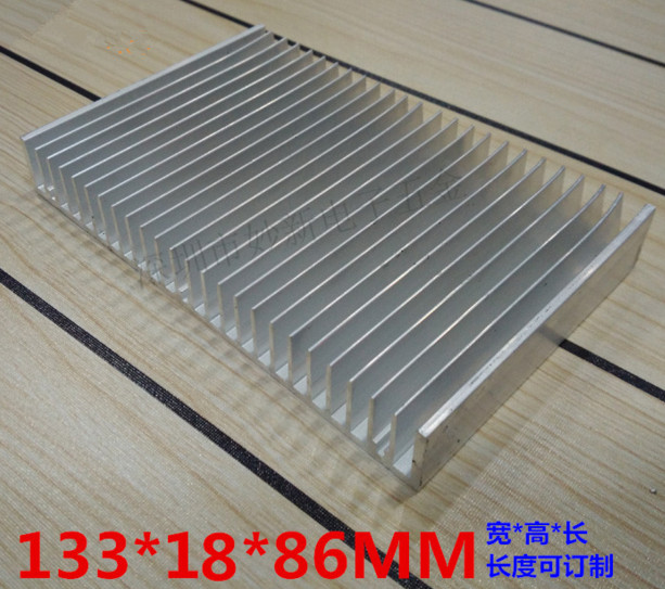 Fast Free Ship Electronic radiator 133*18*86MM high power radiator Power amplifier cooling block fast free ship 90 250 49mm module radiator high power led street lamp radiator aluminum electronic radiator
