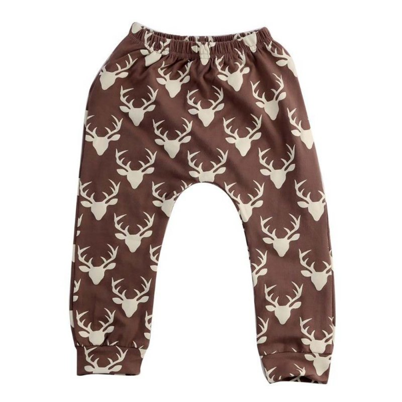Baby Pants & Capri Kids Boy Girl Design Bottoms Casual Harem Pants Deer Printed Toddler Loose Trousers 0-4T