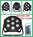 Controle remoto sem fio led par 7x12 w 4em1 rgbw led wash uplight dmx com cabos