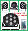 Wireless remote control LED Par 7x12W RGBW 4IN1 LED Wash uplight with  DMX Cables