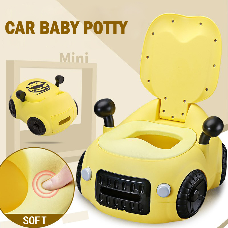Baby Toilet Seat Cute Car  Children's Pot Toilet Portable Training Boy Girls Child Potty Children's Toilet Baby Potty