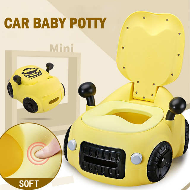 Baby Toilet Seat Cute Car Childrens Pot Portable Training Boy Girls Child Potty