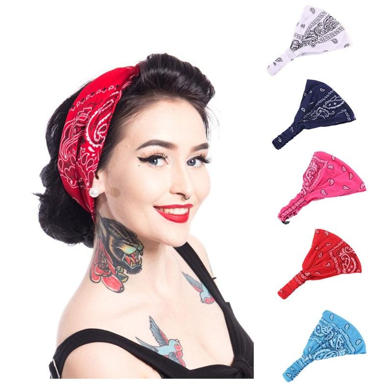 Paisley Bandana Headband Women Turban Printing Headscarf Hair Band in Women 39 s Hair Accessories from Apparel Accessories