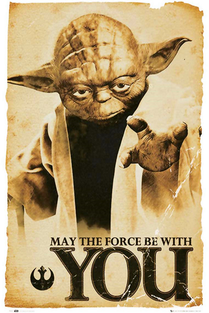 Star Wars Posters Jedi Yoda Poster May The Force Be With You Custom