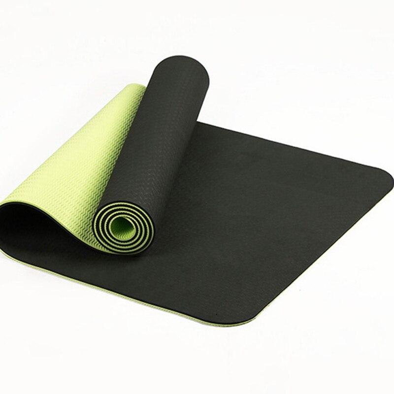 183*61*0.6CM TPE Pilates Yoga Double <font><b>Color</b></font> <font><b>Exercise</b></font> Sports For Tasteless